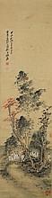 Chinese Painting of Scholars Signed Zhang Da Qian