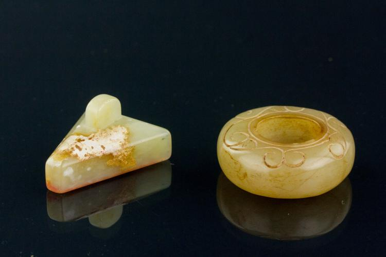 Pc chinese shoushan stone seal and water pot