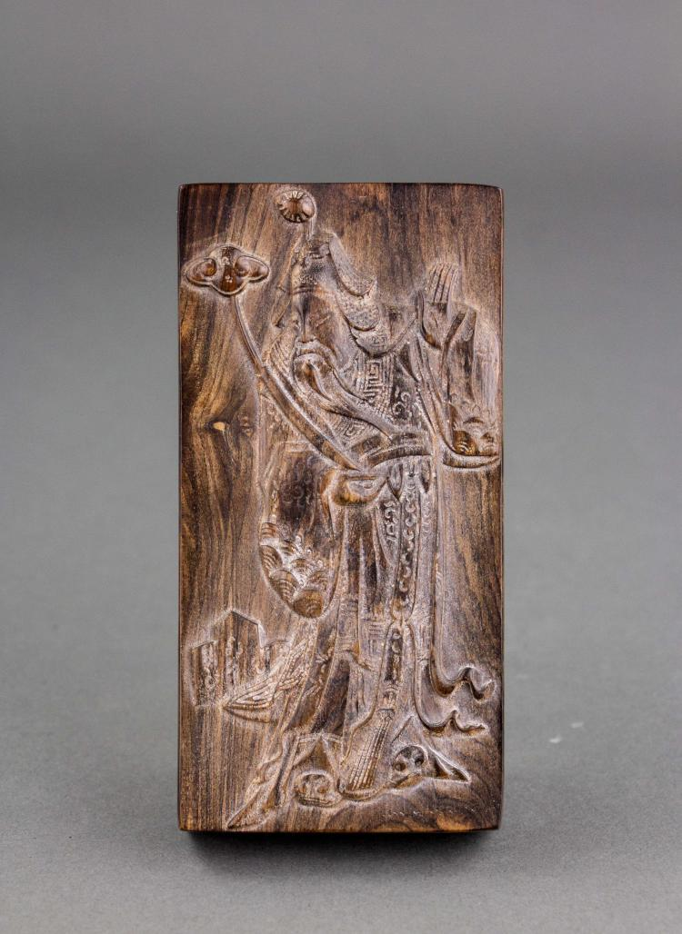 Chinese zitan wood carved printing block for Oriental wood carved furniture