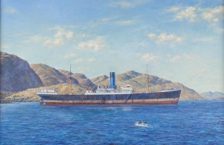 Oswald Brett Autralian/American 1921-2017 Oil on Canvas
