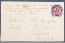 British 1900 One Penny Post Stationery Card