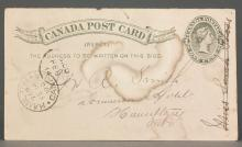 Canada 1890 One Cent Postal Stationery Card