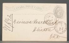 Canada 1892 One Cent Postal Stationery Card