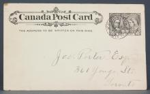 Canada 1897 One Cent Postal Stationery Card
