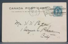 Canada 1899 One Cent Postal Stationery Card