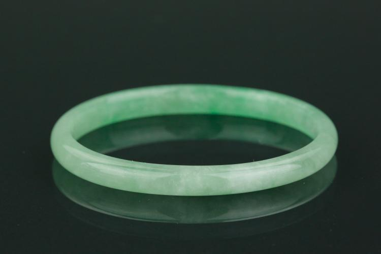 Chinese apple green jadeite thin bangle for Furniture 888 formerly green apple