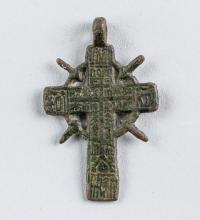 18th Century Russian Orthodox Cross Pendant
