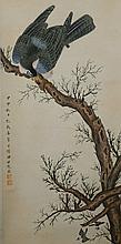 Chinese Hawk on Branch Tian Shiguang 1916-1999