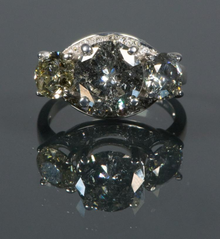 2.45 ct. I-3 Clarity, H-I Color Diamond Ring Cert