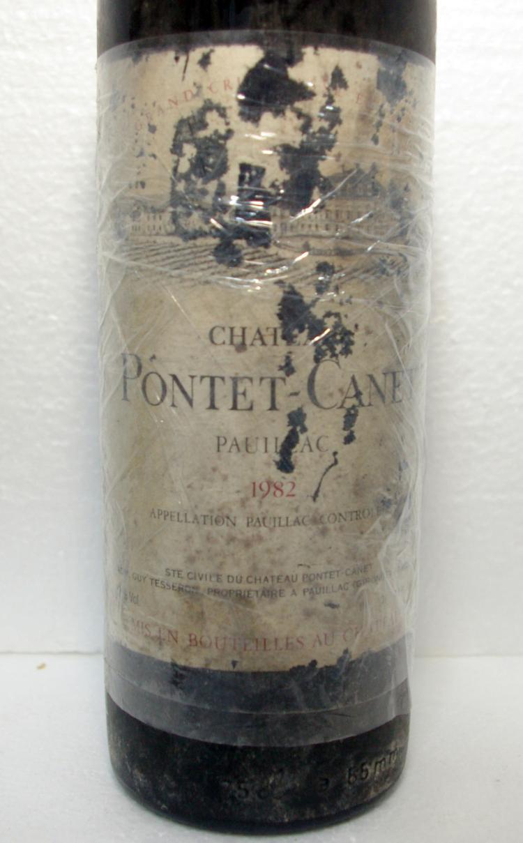 PONTET CANET 5EME GRAND CRU CLASSE 1982