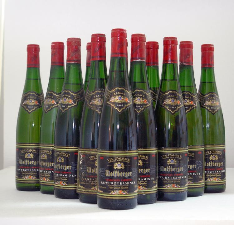GEWURZTAMINER VENDANGES TRADIVES DOMAINE WOLFBERGER 1985
