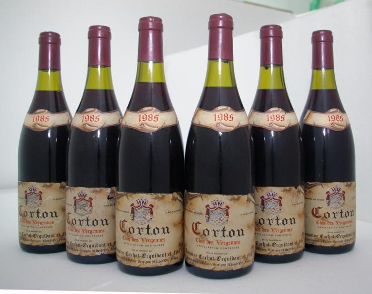 CORTON GRAND CRU CLOS DES VERGENNES DOMAINE CACHAT-OCQUIDANT   1985