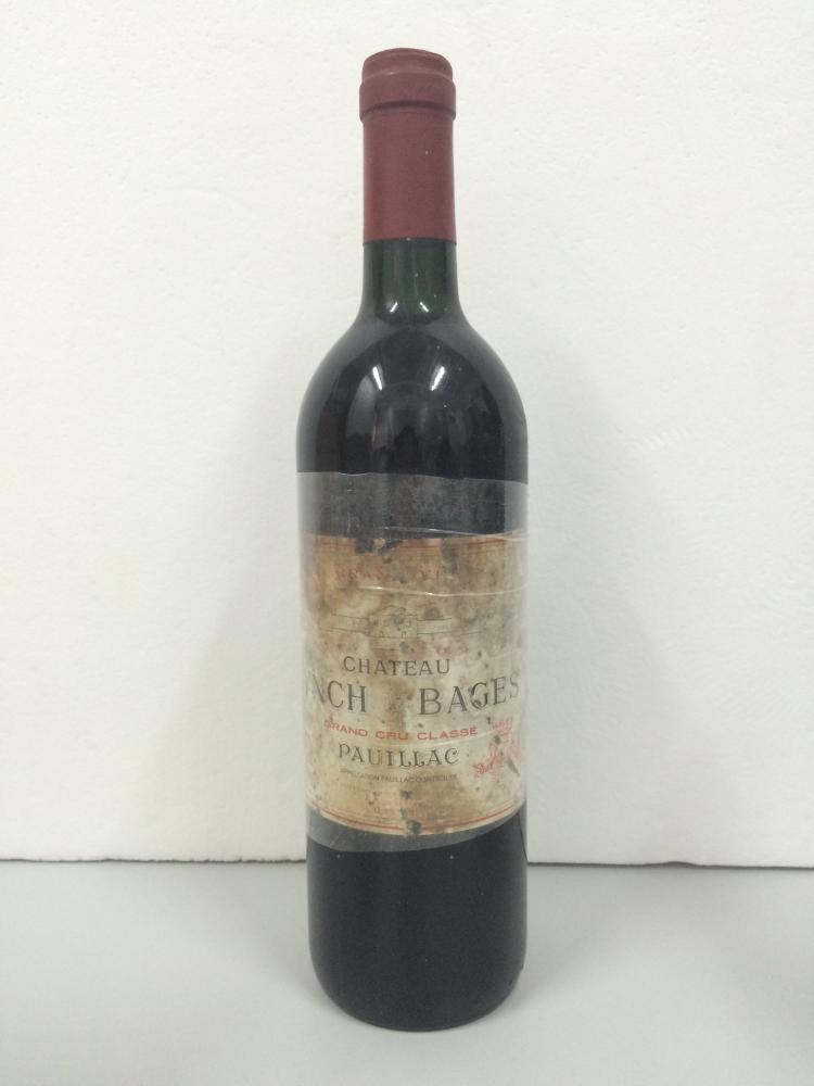 LYNCH BAGES 5EME GRAND CRU CLASSE   1986