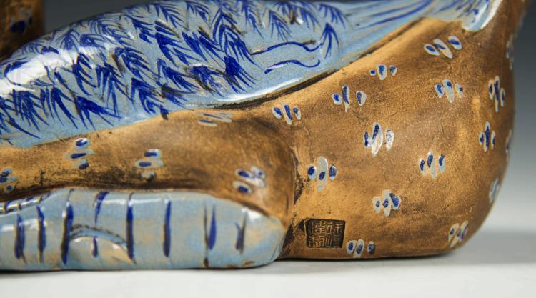 Qing dynasty Chinese ZiSha Duck Shape