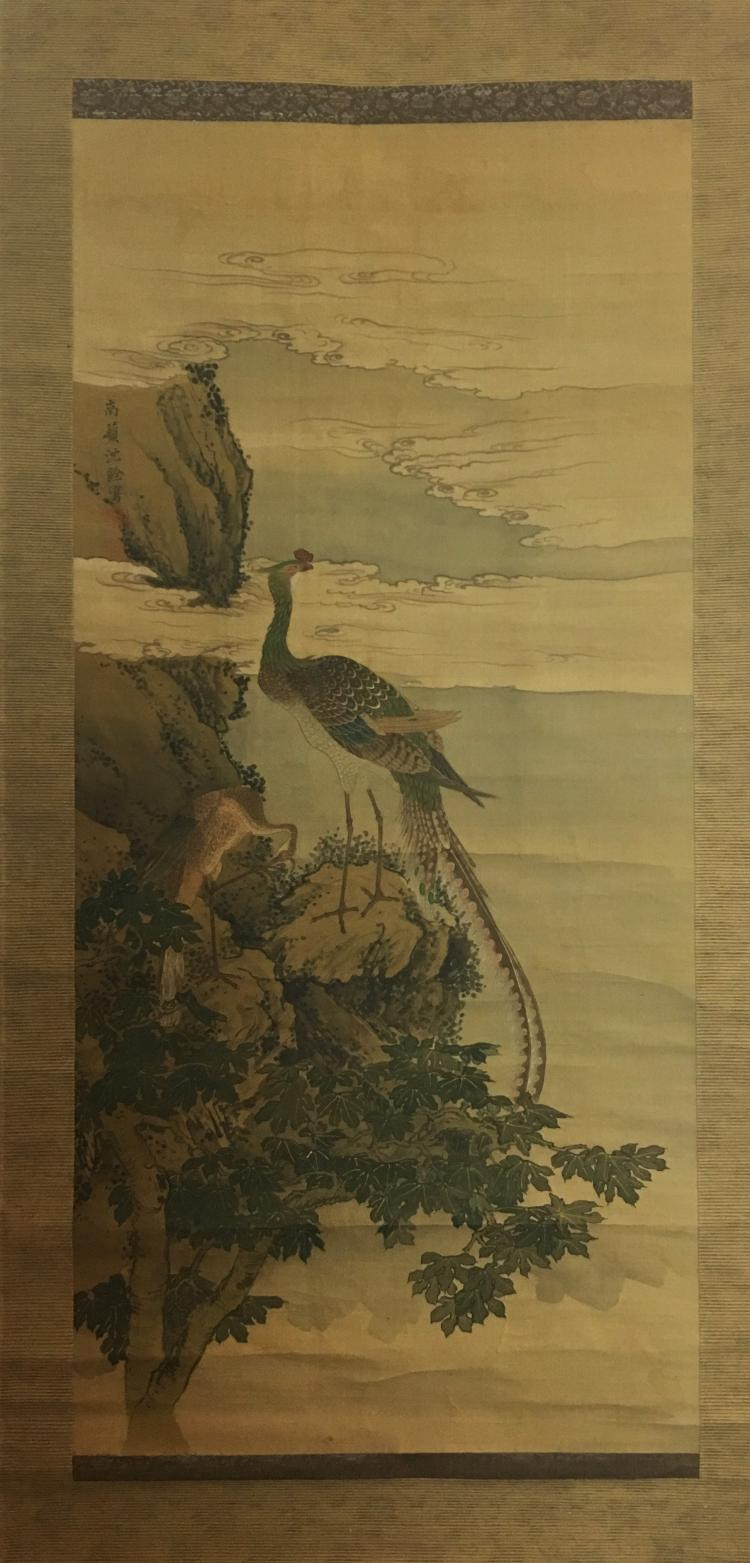 Shen Quan (1682¡ª1760), Flower and Peacock