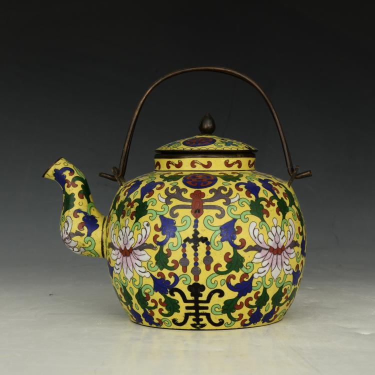 Chinese Antique Cloisonne Pot
