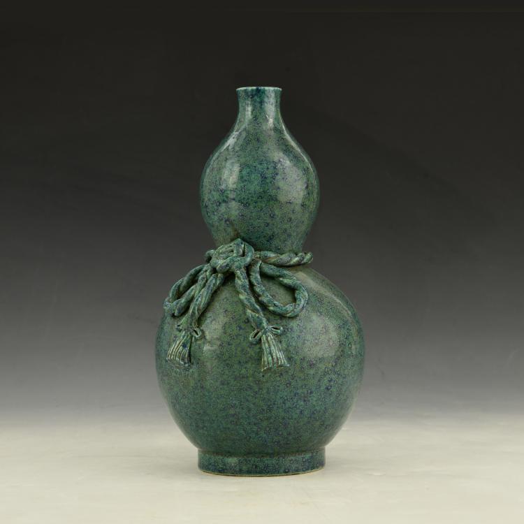 Chinese LuJun Glazed Gourd Vase