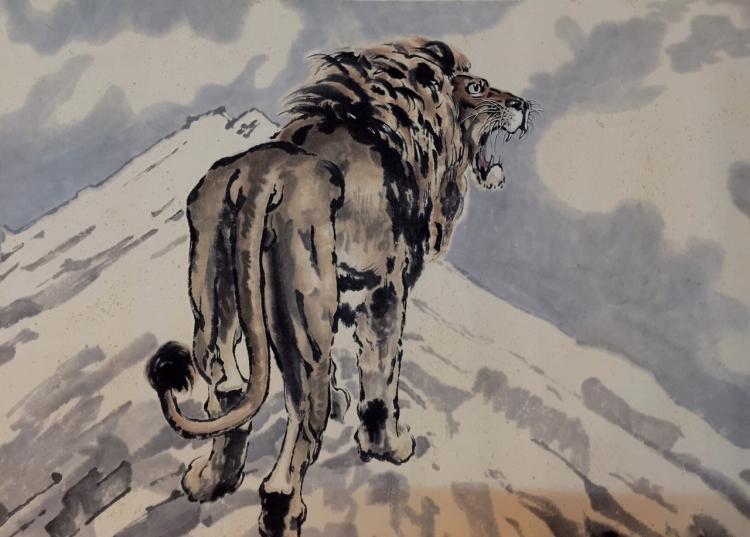 Xu Beihong(1895-1953), Lion