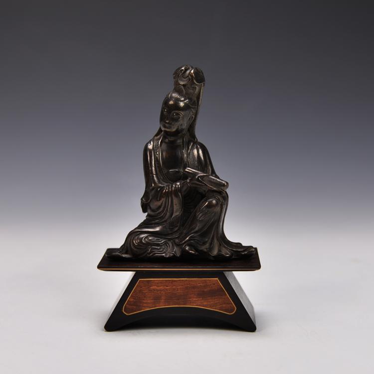 Chinese Bronze Guang Yin Figure