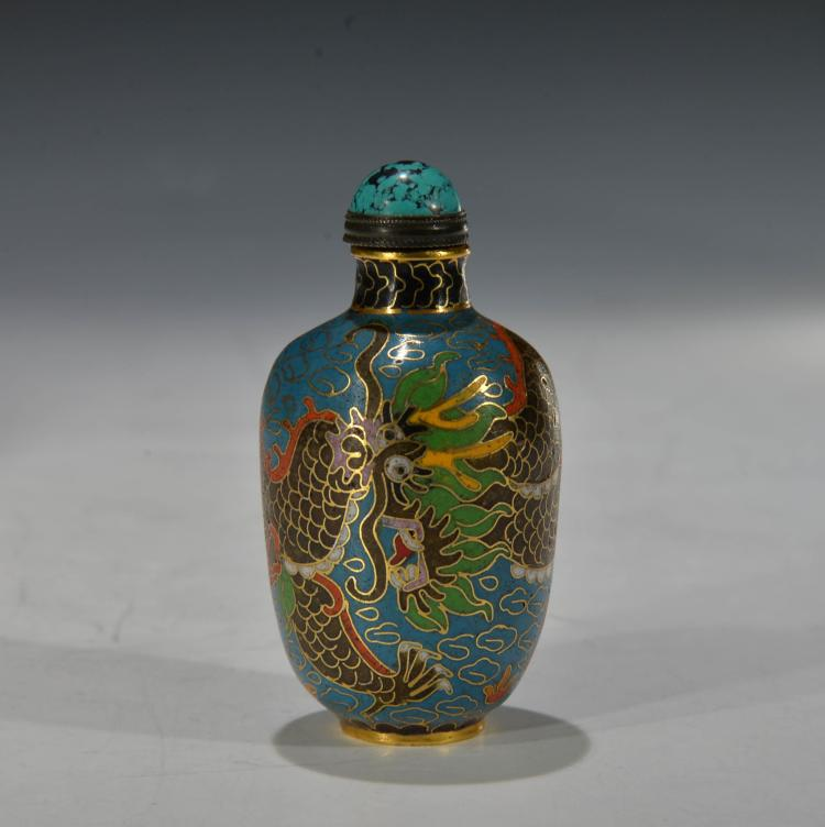 Chinese Cloissone Snuff Bottle