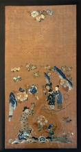 Chinese Antique Silk Embroiderie with Frame