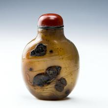 Chinese  Antique Agate Snuff Bottle