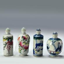 A Set of Famille Rose Snuff Bottle