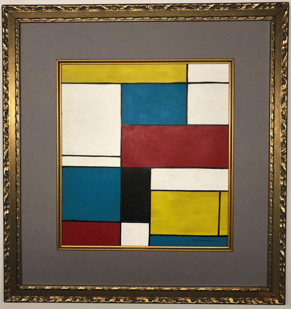 Piet Mondriaan Gouache On Paper