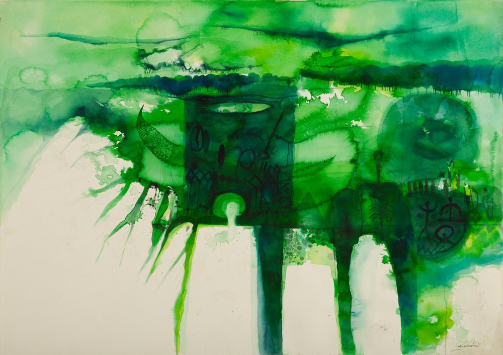 Ahmed Abushariaa (Sudanese, born 1966) Untitled (Forest), undated