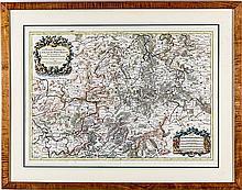 Jaillot, La Basse Partie Du Cercle Du Haut-Rhein, 1691