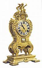 LOUIS XIV STYLE GILT BRONZE MANTLE CLOCK