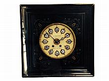 FRENCH BRONZE MOUNTED PAINTED WALL CLOCK
