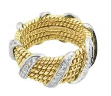 SCHLUMBERGER FOR TIFFANY & CO.  DIAMOND AND GOLD RING