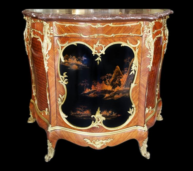 VICTOR RAULIN, Gilt-Bronze Mounted Chinoiserie Cabinet