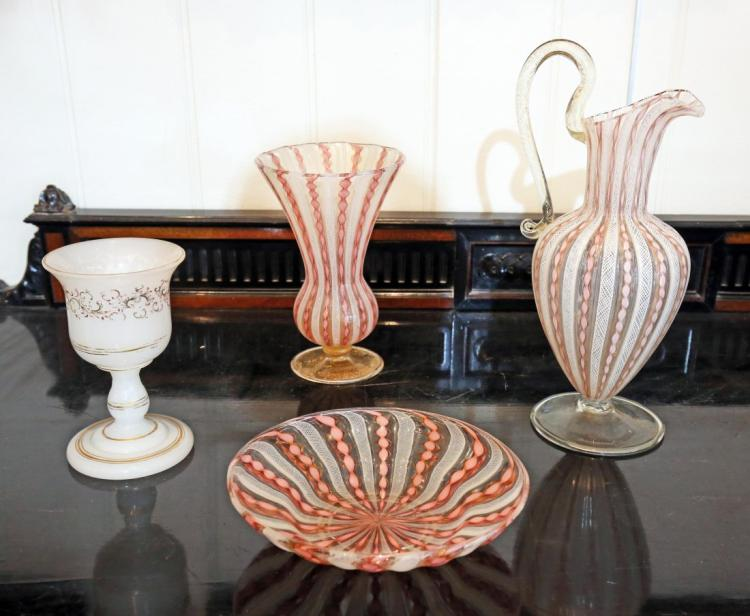GROUP OF 3 VENETIAN GLASS TABLE ARTICLES