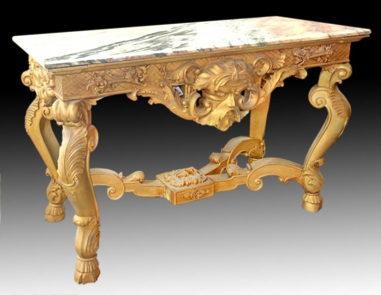 RŽgence style giltwood console table