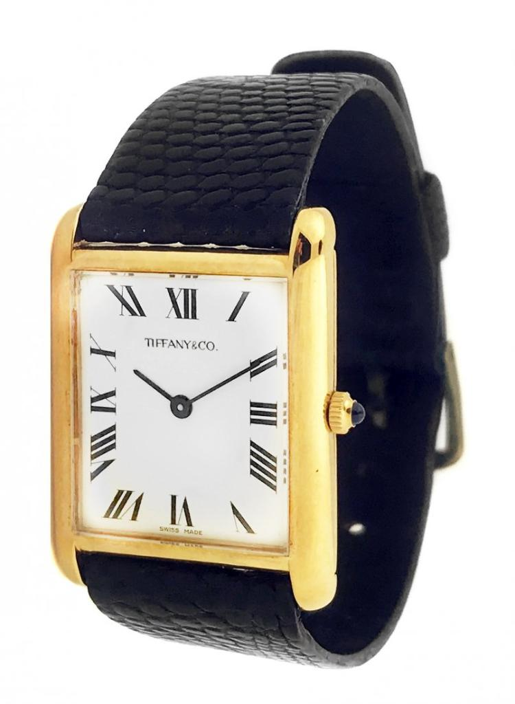 Tiffany & Co.,A LADY'S YELLOW GOLD WATCH