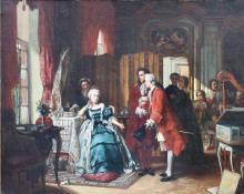 Jean CAROLUS (1814-1897) Oil on Canvas