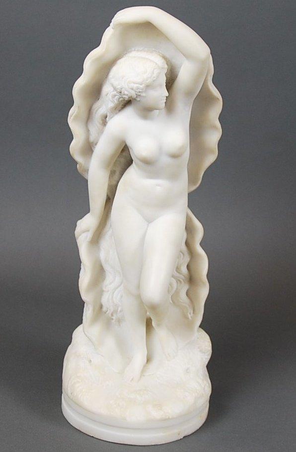 XAVIER MARIE-AUGUSTE COURTET,(FRH, B.1821), MARBLE NUDE