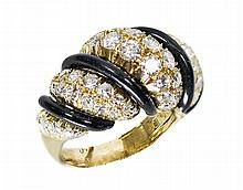 CHRISTIAN DIOR DIAMOND AND ONYX