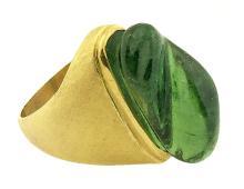 18 Karat Gold and Tourmaline Ring