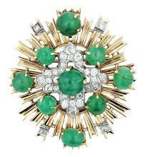 Gold, Diamond and Emerald Brooch, Seaman Schepps
