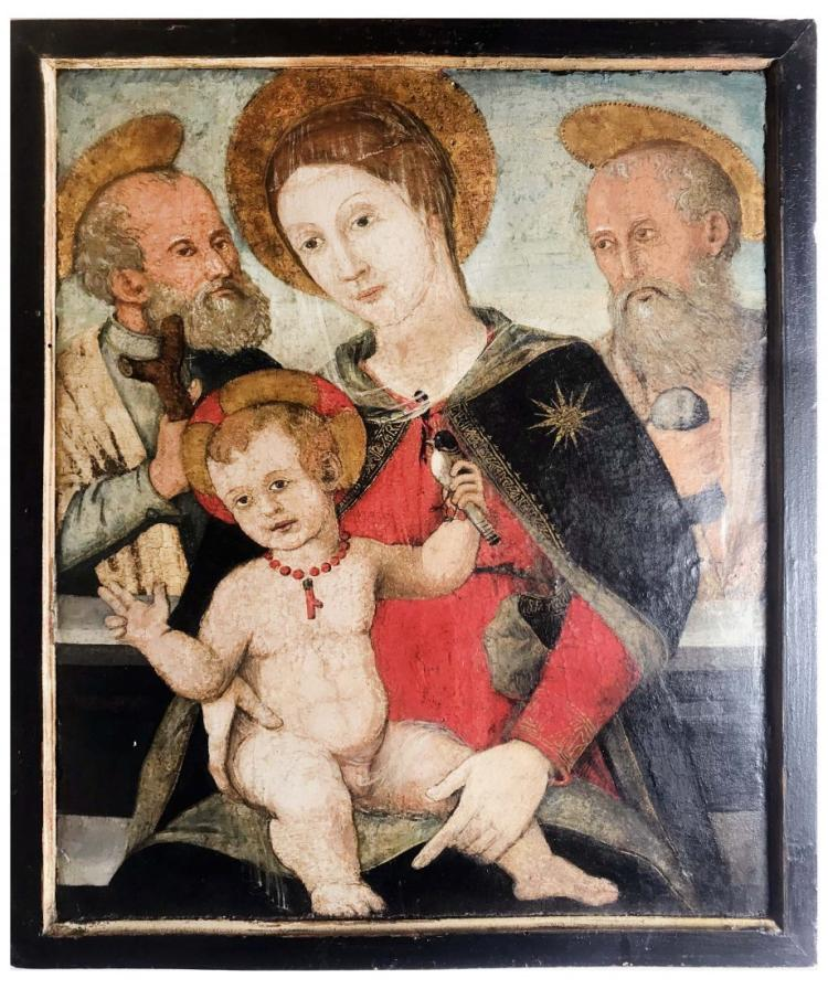 Tuscan School,THE MADONNA AND CHILD WITH SAINTS