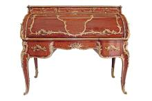 LARGE AND VERY FINE FRANCOIS LINKE ROLL TOP DESK