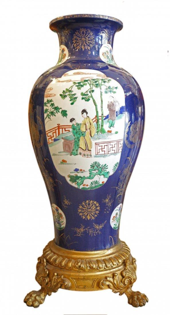 GILT-BRONZE MOUNTED Chinese Export Porcelain vase