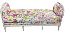 LOUIS XVI STYLE PAINTED BEACHWOOD DAYBED