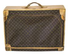 VINTAGE LOUIS VUITTON SOFT SIDE TRAVEL LUGGAGE SUITCASE