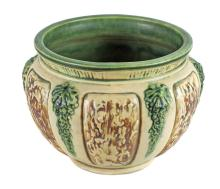 AMERICAN POTTERY JARDINIERE, ROSEVILLE, FLORENTINE