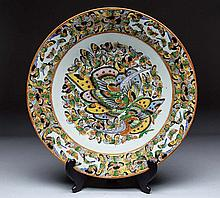 CHINESE THOUSAND BUTTERFLIES PORCELAIN CHARGER