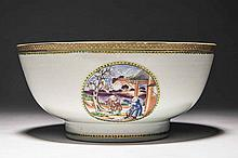 CHINESE EXPORT PORCELAIN BOWL, 19TH CENTURY